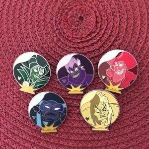 Disney Villain pins